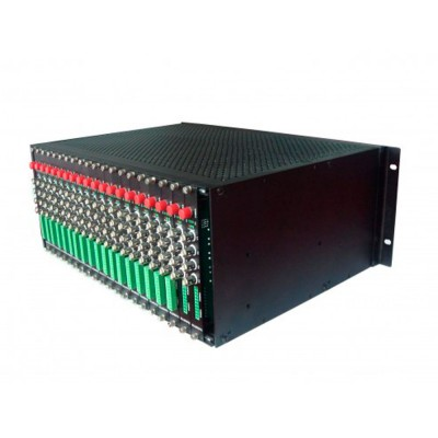 F1V4URACK |  Media Converter 16 Slots Fiber Media 8 Canal  de video 4U case