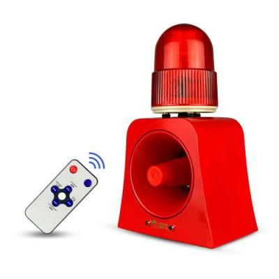SF-502 | Alarma comunitaria  DC12V ~ DC24V con sirena y luz, MP3