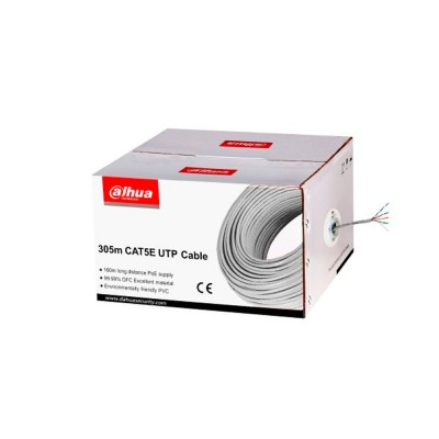 DH-PFM920I-5EUN-N | Cable UTP Unifilar CAT.5e Gris, OFC con pureza de 99.99%