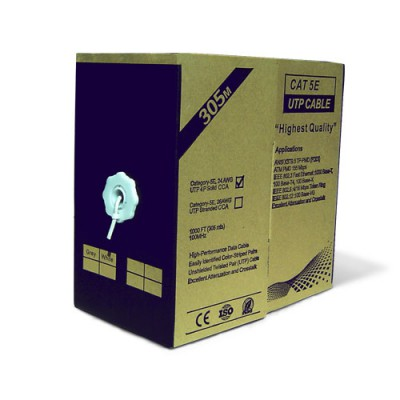 CABU305BL | Cable UTP Unifilar CAT.5e Blanco