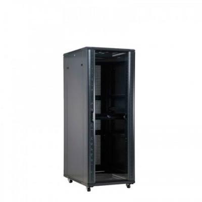 6016624NE | Rack 24U con Ventilador Negro
